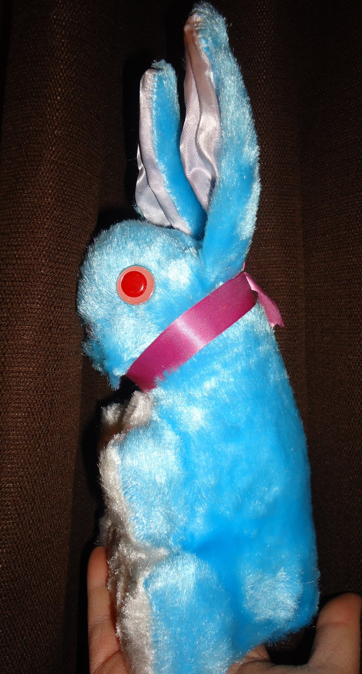 Vintage bunny Easter stuffed toy doll
