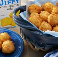 Hush puppies from Jiffy Cornbread mix.  Did this in the cakepop maker. Perfect but be careful, they will rise!