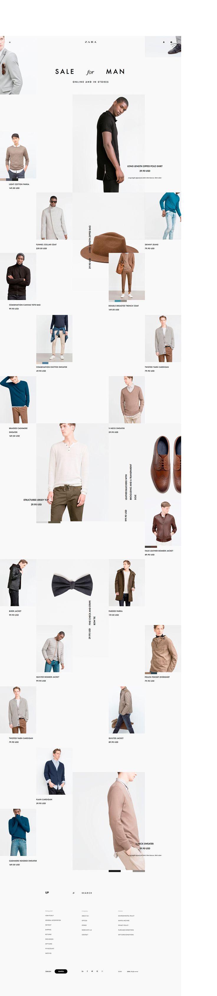 Z A R A /web site. Concept. on Behance