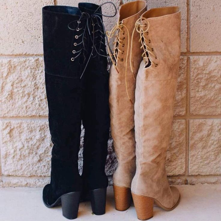 Locklyn Suede Knee High Boots - Taupe