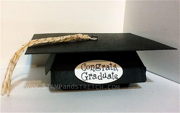 Stamp and Stretch: Hamburger Box Graduation Cap