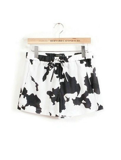 Cow Color Cotton Shorts - szorty w krowie łaty
