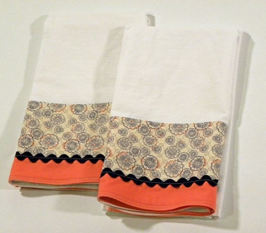 Blue Tea Towel Flour Sack Towel Set of Two by RegansSweatShoppe