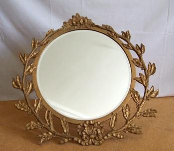 intricate circular photo frame