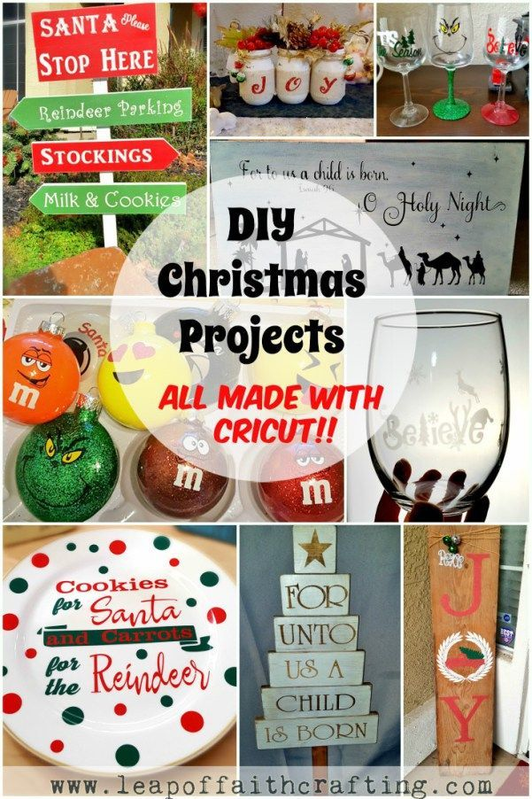 Cricut Ideas for Christmas!! Make DIY Christmas decor, DIY ornaments, DIY  gifts and more with a Cricut! #cricutmade #cricut #gifts - The Best Cricut Ideas For Christmas Gift Giving Pinterest