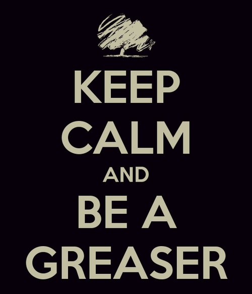 I wish I would see greasers nowadays. The style is so cool and relaxed. Its a lot better than what teens wear nowadays