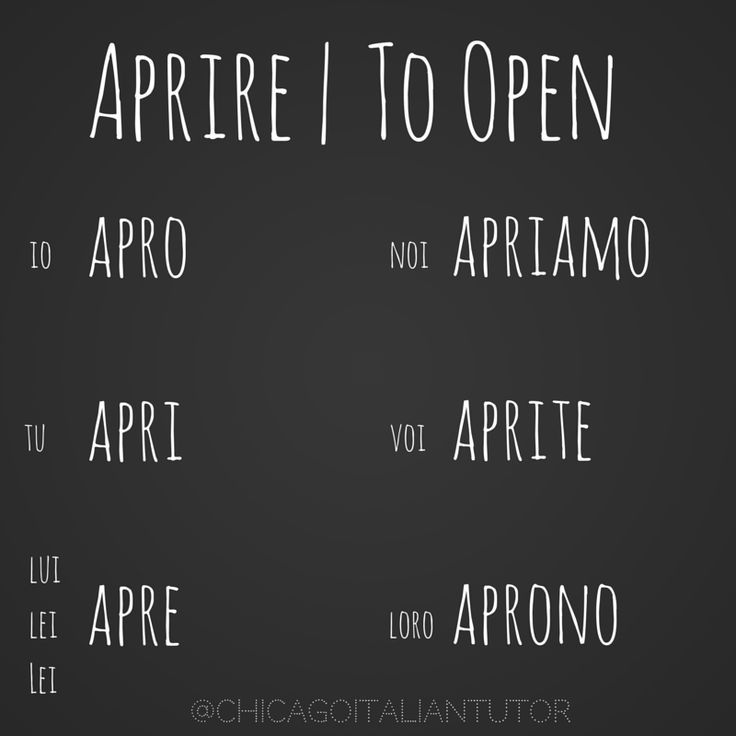 Learning Italian Language ~ aprire | to open