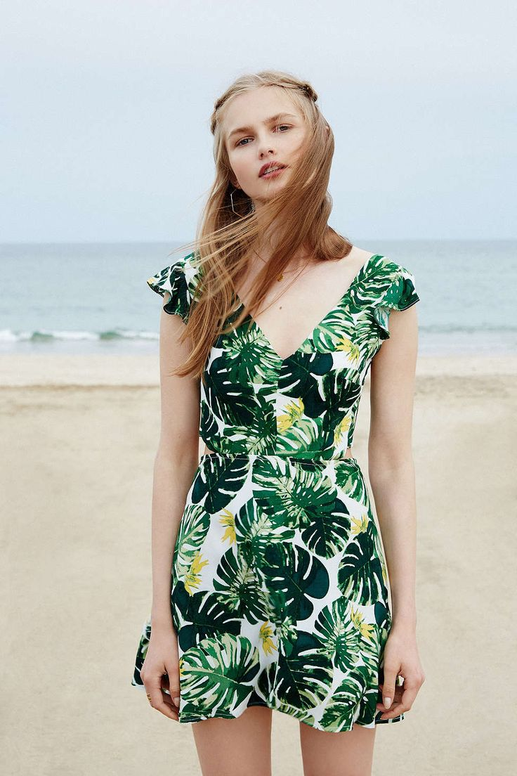 For Love & Lemons And UO Tropical Leaf Dress - Urban Outfitters