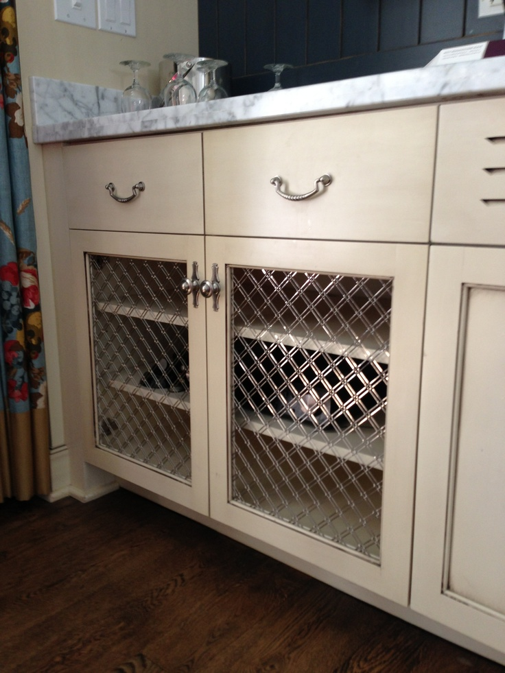 We 39 re totally doing this in the kitchen and maybe the for Chicken wire kitchen cabinets