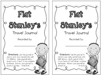 This set contains a week's worth of journal sheets to go along with the novel Flat Stanley.  There are two variations of the first page: one with a due date of Friday and one with space for you to fill in according to the day your unit ends.  Happy teaching!(clipart by scrappindoodles.com)