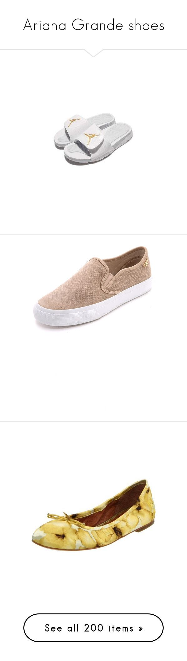 """""""Ariana Grande shoes"""" by marilia13 ❤ liked on Polyvore featuring shoes, sandals, flats, slides, puma footwear, slip on sandals, slip on flats, flat heel shoes, flat heel sandals and white sandals"""
