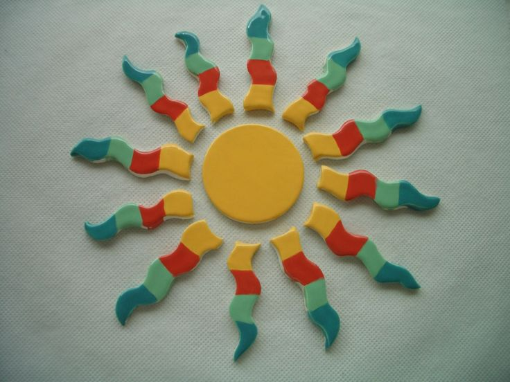 COCA - SOUTHWESTERN SUN - Ceramic Mosaic Tiles Set by TinkerTiles on Etsy