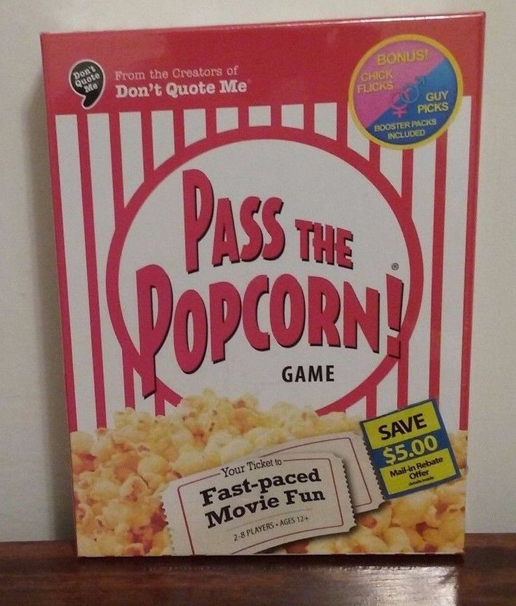 """NEW PASS THE POPCORN MOVIE TRIVIA GAME FROM THE CREATORS OF """"DON'T QUOTE ME"""" #WIGGLESTHREED"""