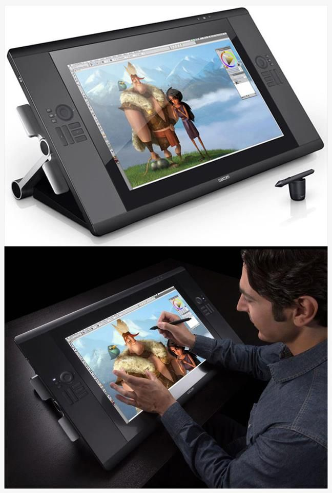 Wacom Cintiq 24HD Touch unveiled: drawing screen with gestures controls and multi-touch features + improved display providing 1.07 billion colors (yep, that's 1,070,000,000 colors - covering 97% of Adobe's RGB palette)
