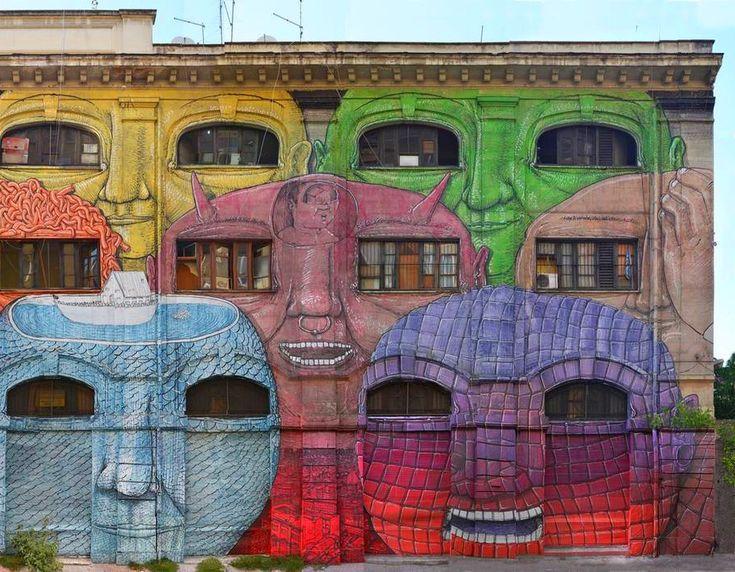 Best Street ART Images On Pinterest Architecture Art - Beautiful giant murals greek gods pichi avo