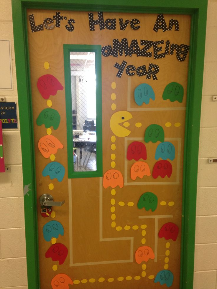 Awesome Welcome Back! Elementary School 2014 PAC Man Door Decoration