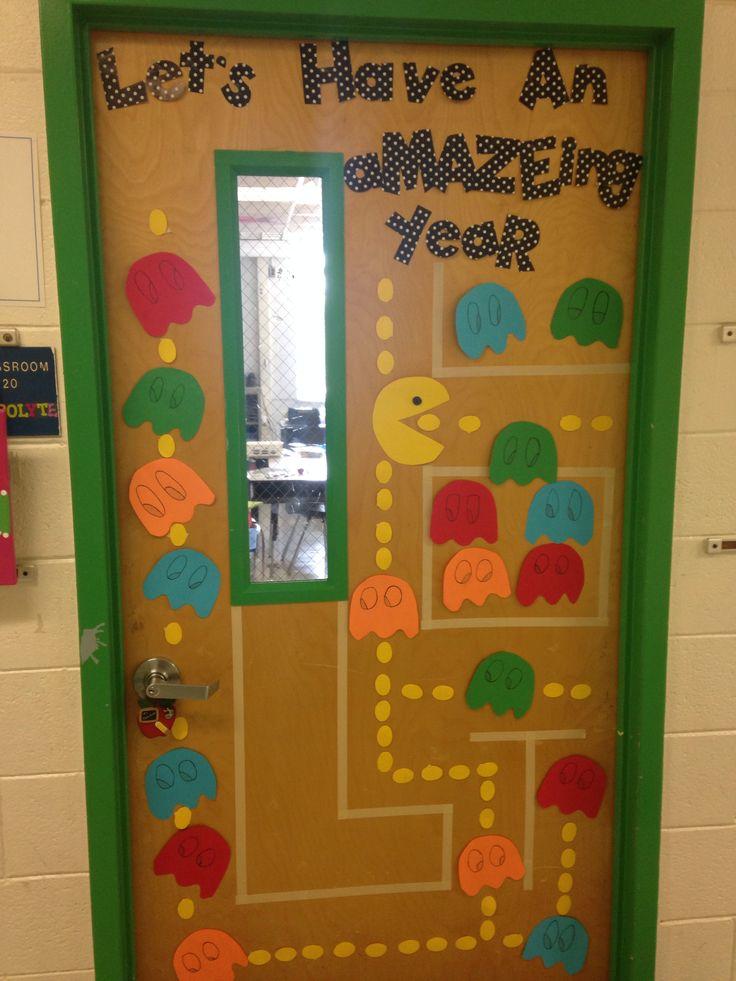 Welcome Back Elementary School 2014 Pac Man Door