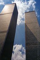 World Trade Center, New York City - Destroyed in the September 11th, 2001 terror attacks, the outdoor observation deck stood at 419.7m/1,377ft above ground.