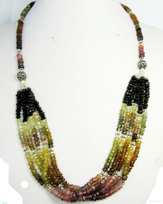 201 CTS FINEMIXED TOURMALINE  NECKLACE   GG1091  NATURAL TOURMALINE MULTI COLOR STRAND NECKLACE      FROM  GEM TRADERS ,GEMROCKAUCTIONS