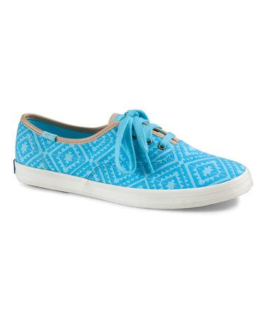 This Sky Blue Tribal Champion Sneaker by Keds is perfect! #zulilyfinds