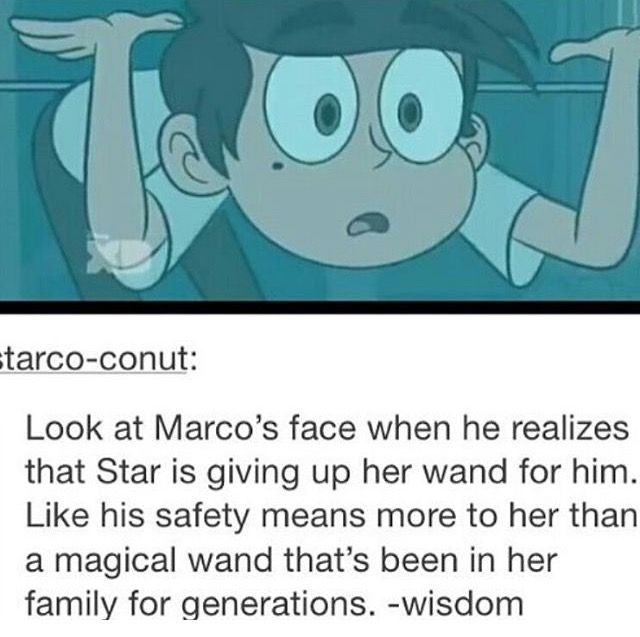 This is like the same face that he had when he read Star's journal in the next episode
