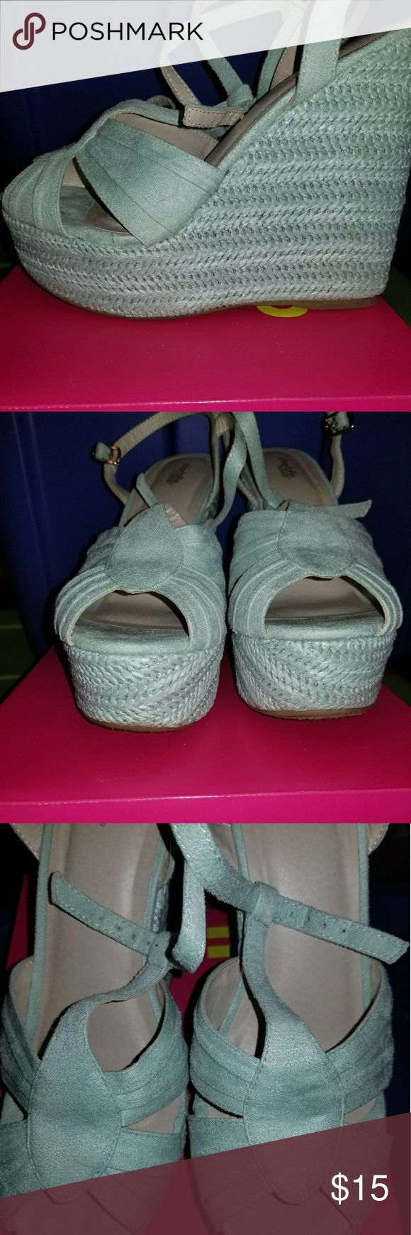 Mint wedges Mint wedges Worn 1 time  Kept in original box Charlotte Russe Shoes Wedges