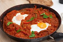 This spicy, delicious North-African inspired Shakshuka dish is usually eaten for breakfast, or with meat and smoked eggplant for dinner. It's really easy, absolutely delicious, great for entertaining and best of all it's totally made from Slimming World Free Foods, meaning that you can go back for seconds or thirds - with no guilt and no worry!