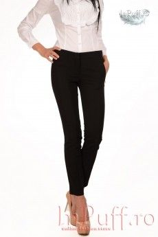Pantaloni office negri elastici