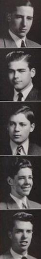 "1943 (Prep School) hairdos, in the ""Pot Pourri"" yearbook of Phillips Academy in Andover, Massachusetts.  #PhillipsAcademy #Andover #Massachusetts #PotPourri #1943"