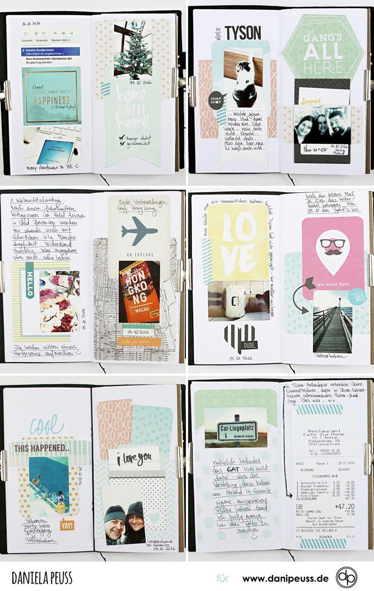 6 Doppelseiten im #danidori Memory Notebook (mit Project Life Karten)