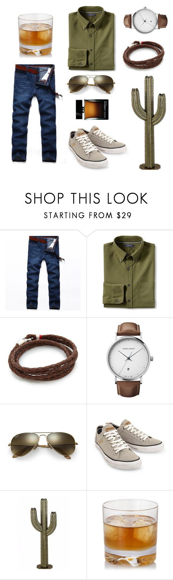 """Don't be a prick 🌵"" by jess-heppell-designer on Polyvore featuring Lands' End, MIANSAI, Georg Jensen, Ray-Ban, Wrangler, Dolce&Gabbana, men's fashion, menswear, MensFashion and earthy"