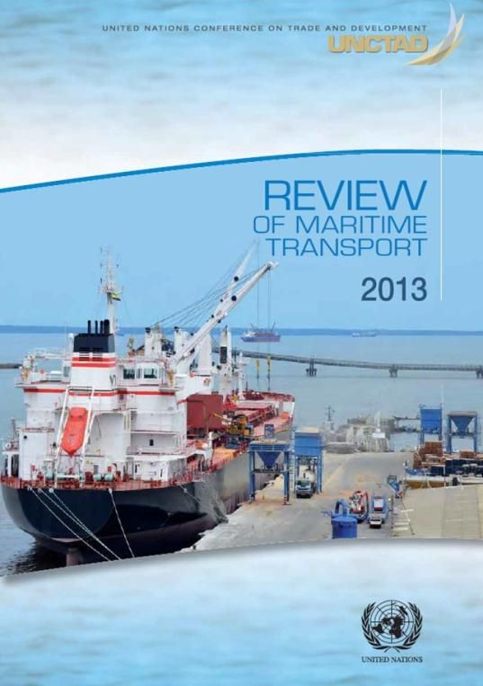 Review of Maritime Transport, 2013 (EBOOK) http://unctad.org/en/pages/PublicationWebflyer.aspx?publicationid=753 This report estimates global seaborne trade to have increased by 4.3 per cent, with the total reaching over 9 billion tons in 2012 for the first time ever. Driven in particular by growing domestic demand in China and increased intra-Asian and South-South trade, seaborne trade nevertheless remains subject to persistent downside risks facing the world economy and trade.