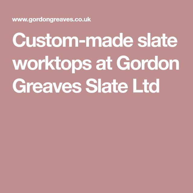 Custom-made slate worktops at Gordon Greaves Slate Ltd