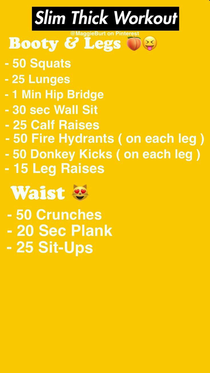 Pin by on GLO UP GUIDE Slim thick workout, Workout