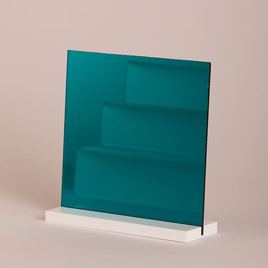 3mm Teal Acrylic Mirror Sheet 600 X 600, just one of many from Sheet Plastic's range. Available to buy online.