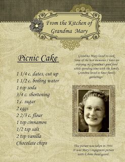 FAMILY HEIRLOOM COOKBOOK. Digital template to create your custom family cookbook with family history vignettes.