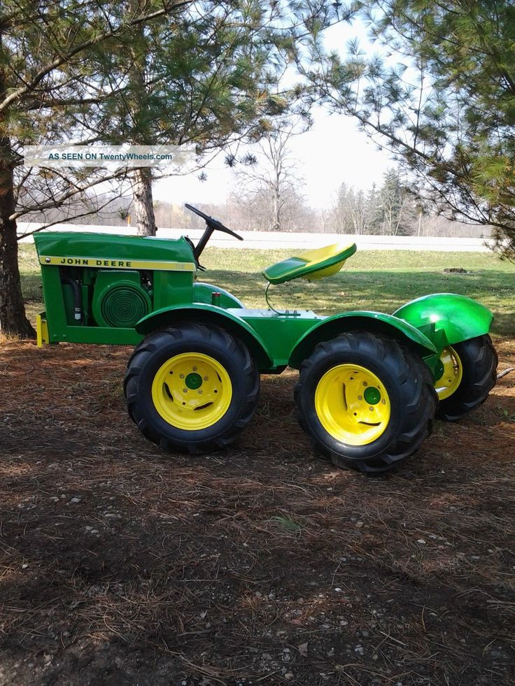 Big Tires On Garden Tractor : Best images about modified riding lawn mower on