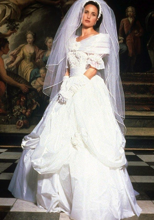Four Weddings And A Funeral Andie MacdowellCelebrity WeddingsCelebrity Wedding