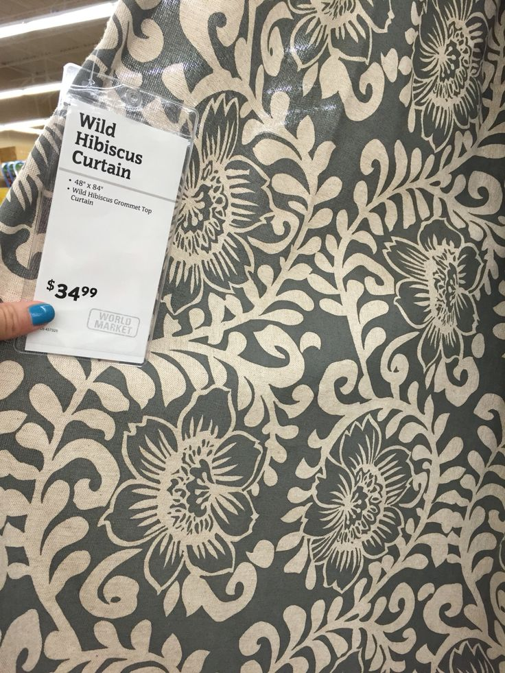 World Market curtain, Wild Hibiscus. Two for shower curtains?