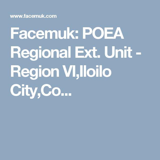 Facemuk: POEA Regional Ext. Unit - Region VI,Iloilo City,Co...