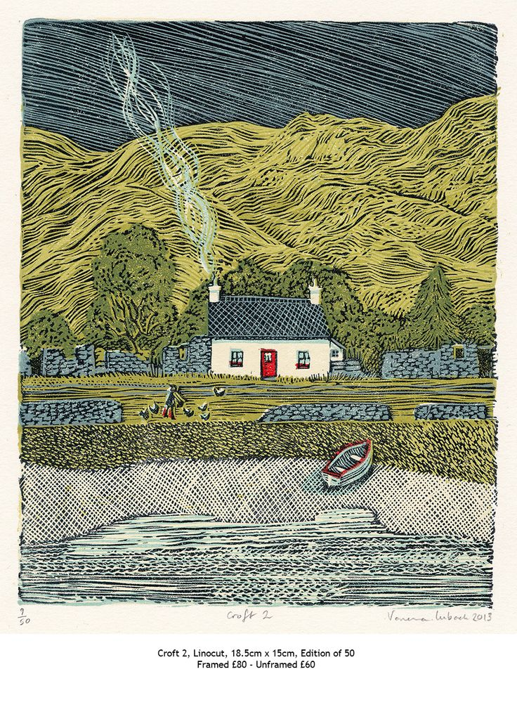 """Croft 2"" by Vanessa Lubach (linocut)"