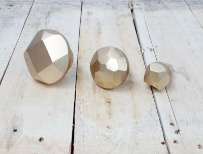 Gold Geo Diamond Hooks