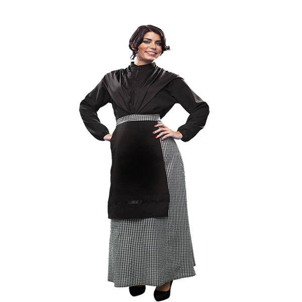 DisfracesMimo, disfraz de castañera mujer adulto. Se trata de un traje muy demandado e ideal para festivales de otoño en el colegio o castañadas.