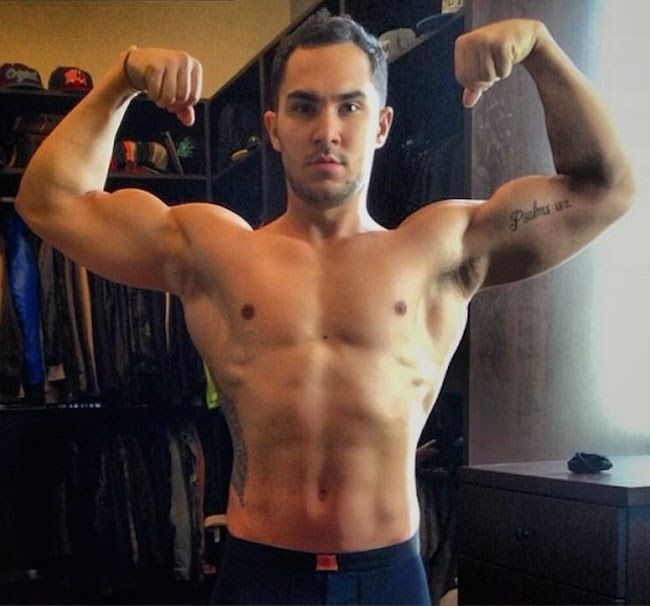 Carlos Pena, Jr. shirtless body...