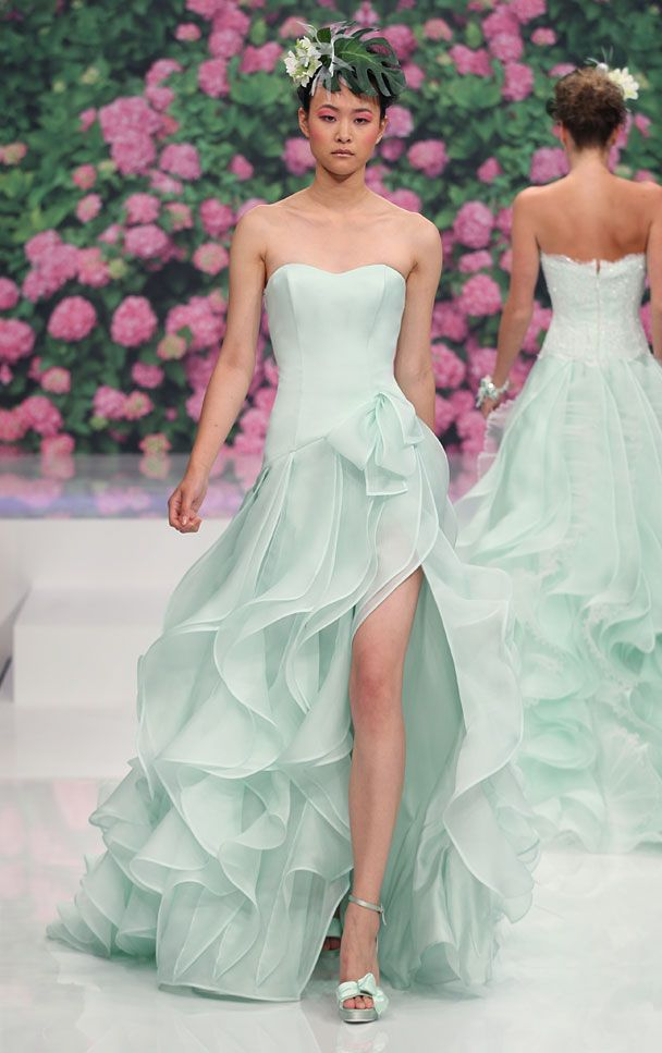 Love this color.  mint green wedding dress ,Collezione 2013 Abiti da Sposa Atelier Aimée Montenapoleone