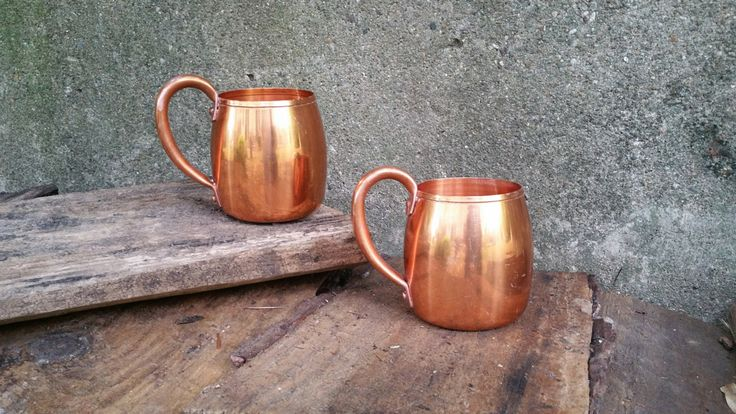 Vintage Solid Copper Moscow Mule Mugs West Bend Aluminum Company by GladStoneatHome on Etsy