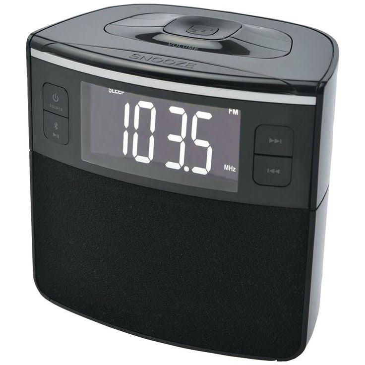 Sylvania Bluetooth Clock Radio With Auto-set Dual Alarm Clock & Usb Charging