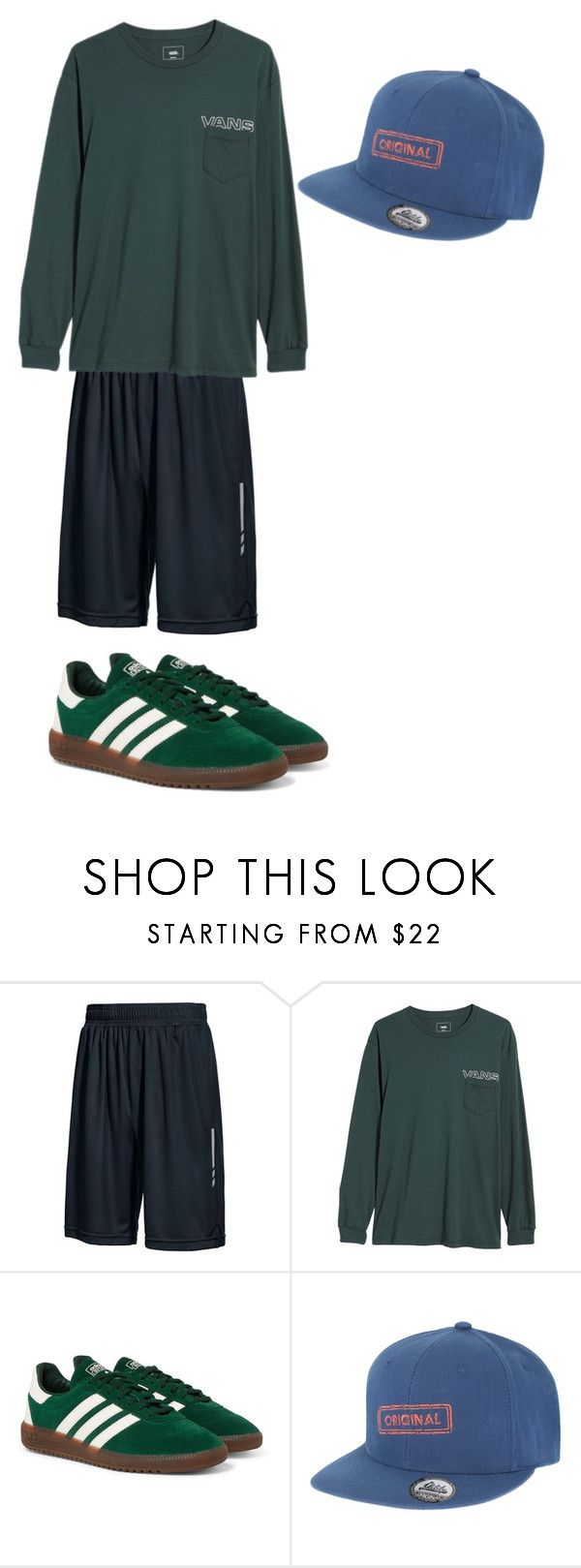 """Dance Gear #3"" by nerderdame ❤ liked on Polyvore featuring Ideology, Vans, adidas Originals, men's fashion, menswear, casual, dance and workout"