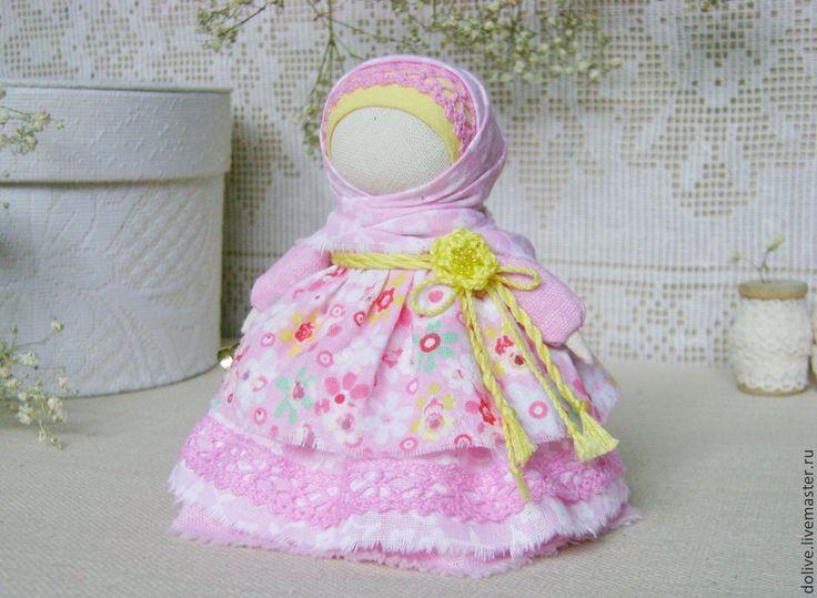 """Купить Куколка """"Колокольчик"""" - розовый, народная кукла, кукла-оберег, традиционная кукла, оберег"""