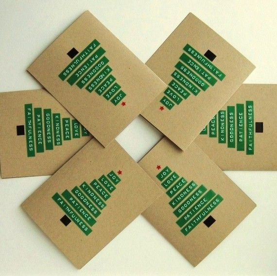 SALE  6pack Merry Christmas Tree // Six Blank Holiday by cooljane